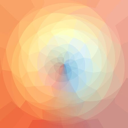 Triangular Pattern in circle. Color Spectrum Geometric Pattern. Triangle pattern set in regular circle around middle point for your design, prismatic  dark spectrum Stock Photo