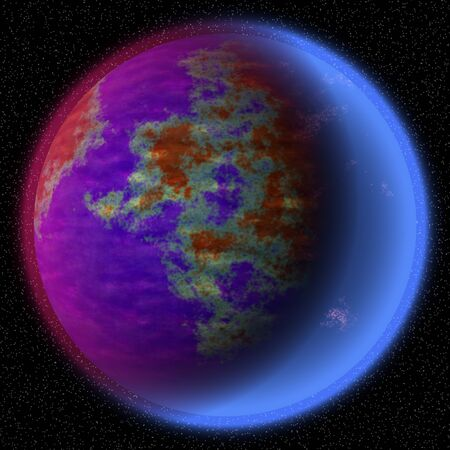 coarse: Lost planet in the far corner of universe. A planet with shinning atmosphere hidden  somewhere in dark space