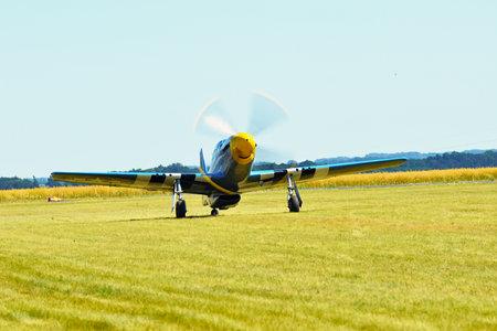 Memorial Airshow, 24th of June 2017, Roudnice, Czech Republic. WW II P51 Mustang Randolph Editorial