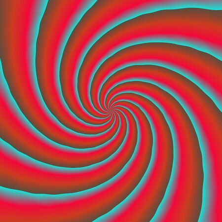 Colorful propelelr makes funny abstract spirals in warm colors.  The psychedelic helix pattern. Stock Photo