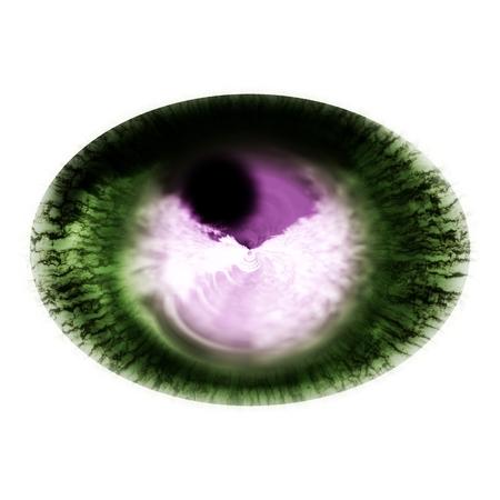 X-ray picture of animal eye. Shinning iris around pupil detail view into eye bulb 版權商用圖片