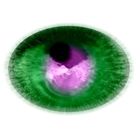 X-ray photo of animal eye. Generated picture. 版權商用圖片