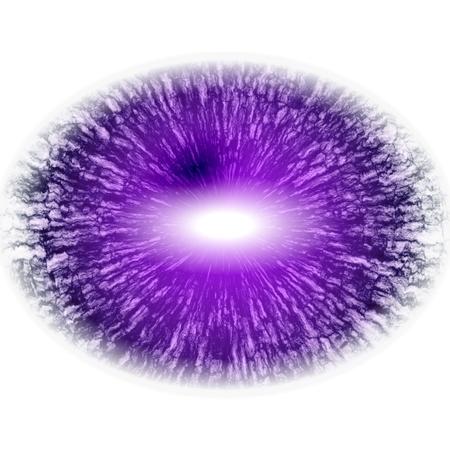 Eye RTG. Middle size of open eyes.. Illustration of eye in rentgen photo light reflection. 스톡 콘텐츠