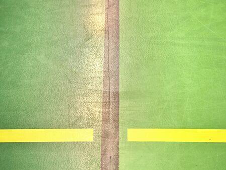 Shadow of indoor football floor field. Light  green floor with black lines in sport stadium with line background