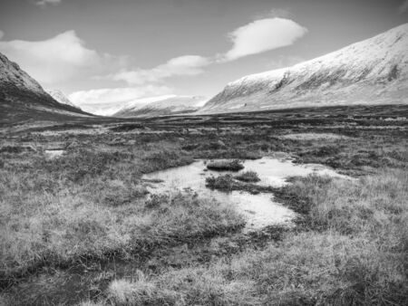 Coe River, Glencoe - Scotland, Lochaber. Early Spring in Glencoe range , Scottish Highlands
