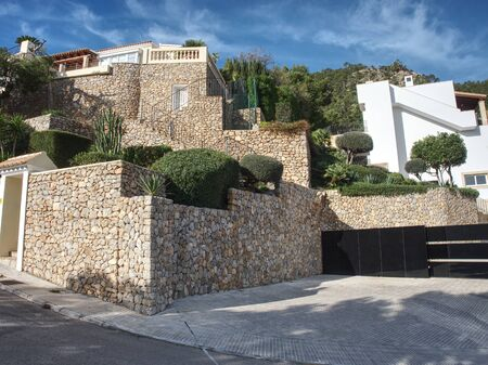 The street and holiday buildings on Mallorca island.