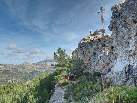 Rural part bellow Pinta Vermell in mountains Majorca Foto de archivo