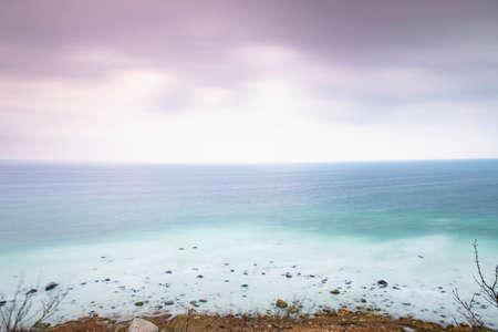 Foamy coast at Ruegen island between Cap Arkona and Vitt, Baltic Sea, Germany, with its famous chalk cliff Stock fotó