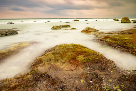 Stormy weather at North Coastline of Cape Arkona, Germany. Beauty, europe.