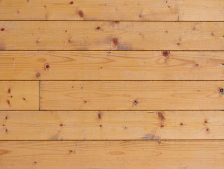 Authentic wood planks in the wall of cabin, texture of spruce wood board Zdjęcie Seryjne
