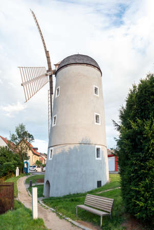Tebic windmill where the natural tannin was milled. Powder tannin from pine and spruce bark, which was used by tanners for their work. Imagens