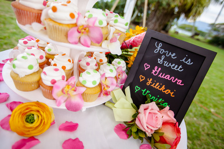 tiered: Wedding  Cupcakes Stock Photo