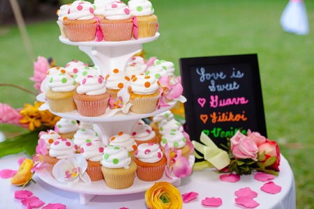 tiered: Wedding Cake and Cupcakes
