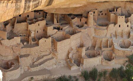 Cliff dwellings in Mesa Verde National Parks, Colorado, USA 免版税图像