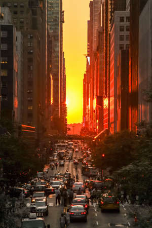 MANHATTAN, NY - November 7, 2011: Yellow cabs in the streets of Manhattan near the new york times building. Redakční