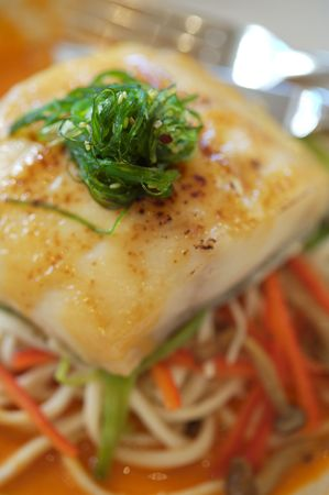 Filet of Sea Bass on a vegetable ragout