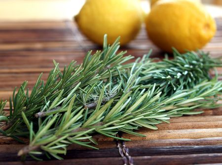epicurean: Rosemary Springs on a rustic bamboo placement