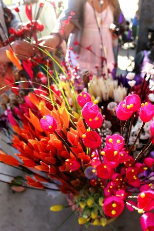 Bouquet of flowers at the farmers market