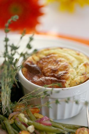 epicurean: Thyme souffle Stock Photo