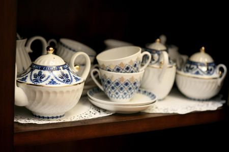 Bone chine tea pots, cups, saucers and service