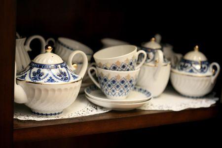 epicurean: Bone chine tea pots, cups, saucers and service