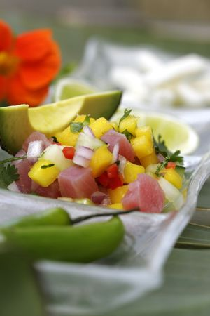 Passionfruit Ceviche Stock Photo - 2307535
