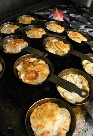Prepped potato crisps