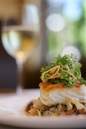 Sea Bass entree Stock Photo - 2307655