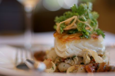 epicurean: Sea Bass entree