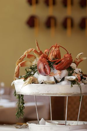 Lobster and shellfish dinner