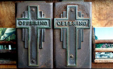 Tithing box Stock Photo