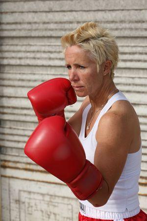 pugilist: Mujeres boxeador  Foto de archivo
