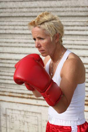 pugilist: Female boxer