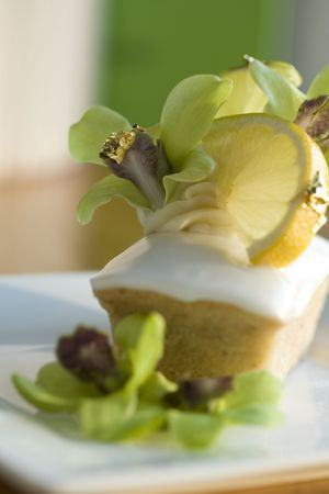Yuzu - financiers and meringue Stock Photo - 2529466