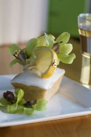 Yuzu - financiers and meringue photo