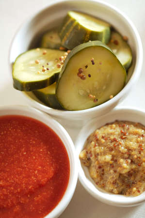 Housemade Condiments - mustard, ketchup, pickles