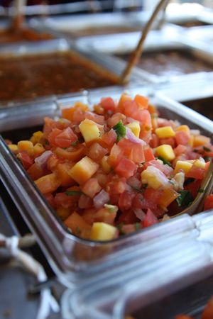 roadside stand: Salsa Bar at a Mexican Cantina