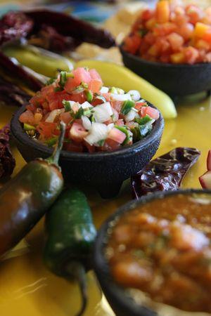 Salsa Bar at a Mexican Cantina