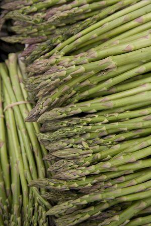 Fresh, organic, locally grown asparagus spears