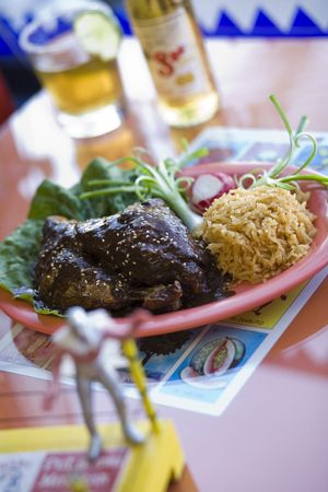Mole Poblano - Mama Testas Taqueria Stock Photo