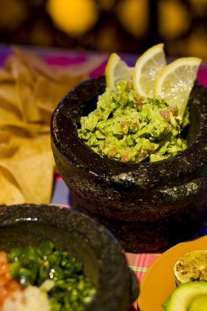 Freshly made table side guacamole