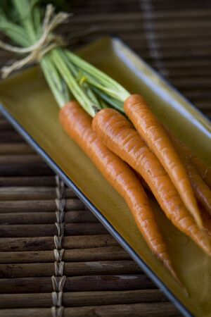 Freshly harvested and washed organically grown carrots Stock Photo