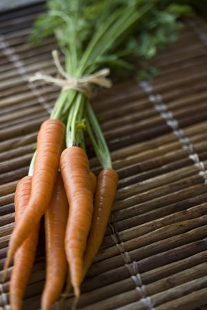 Freshly harvested and washed organically grown carrots Banco de Imagens