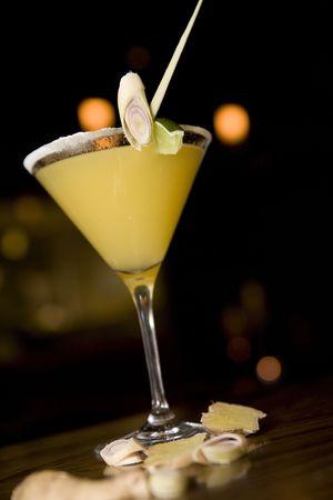 Yuzu martini with salted rim