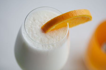 fizz: Delicious, frothy Ramos Fizz quenches a summer thirst. Stock Photo