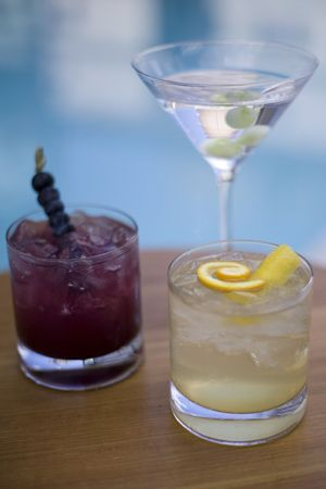 Refreshing summertime cocktails and mocktails served poolside