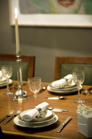Elegant table setting in a private dining room