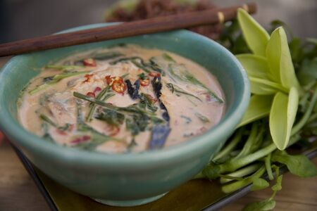 Thai food delicacies presented in traditional settings Stock Photo - 7921076