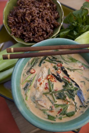 Thai food delicacies presented in traditional settings Stock Photo - 7921123