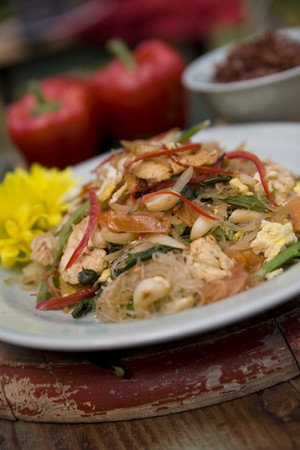 Thai food delicacies presented in traditional settings Stock Photo - 7921120